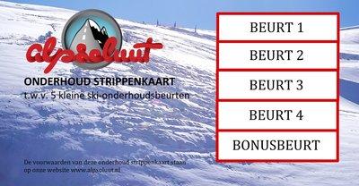 Strippenkaart onderhoud voor ski en snowboard
